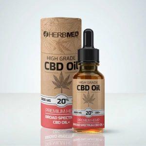 Herbmed High Grade CBD Oil 20% Bästa CBD oljorna för cancer